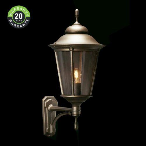 Noral Park Outdoor Wall Light Lantern Black NOR/740310 20 Year Warranty