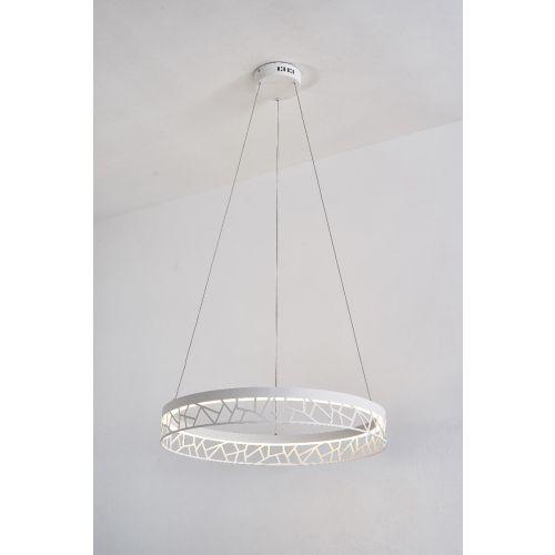 Avivo Mosaic PD18022-60-1A MW 1 Light LED Pendant Matte White Ceiling Fitting