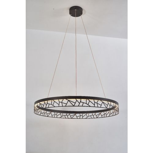 Avivo Mosaic PD18022-80-1A CB 1 Light LED Pendant Coffee Black Ceiling Fitting