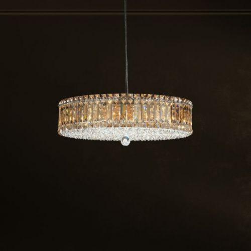 Schonbek 6672EGS Plaza 15Lt Swarovski Golden Shadow Crystal Ceiling Pendant