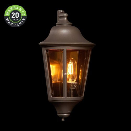 Noral Prince Outdoor Wall Light Lantern Black NOR/750310 20 Year Warranty