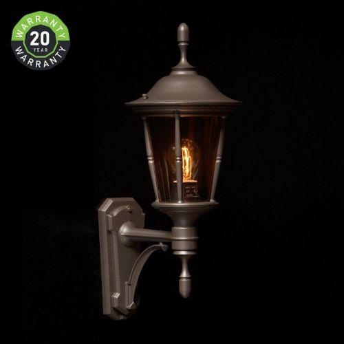 Noral Princess A Outdoor Wall Light Lantern Black NOR/745310 20 Year Warranty