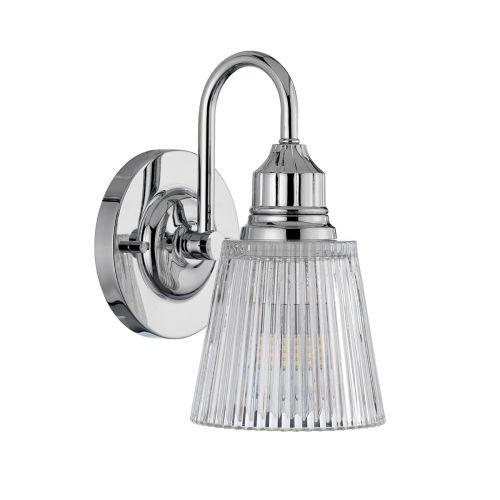Addison Single Wall Light Polished Chrome IP44 Quintessentiale QN-ADDISON1-BATH