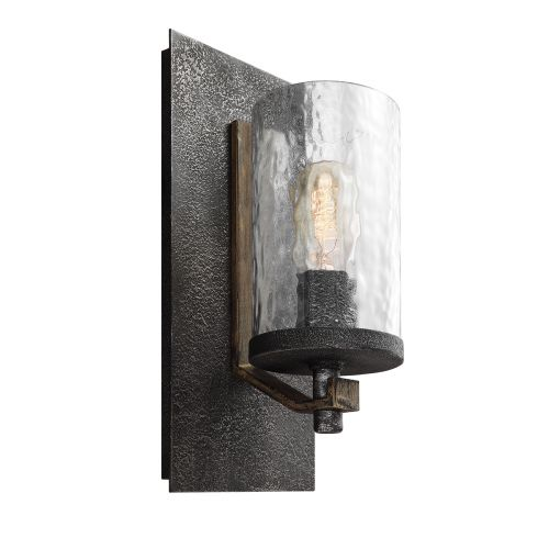 Angelo Single Wall Light Distressed Weathered Oak Slate Grey Quintessentiale QN-ANGELO1
