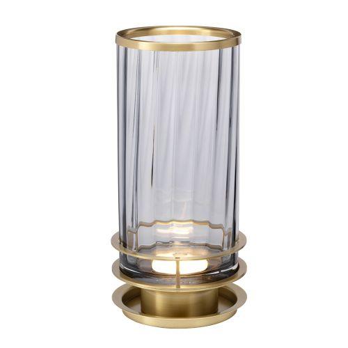 Arno Table Lamp Aged Brass Smoked Glassware Quintessentiale QN-ARNO-SMOKE-AB