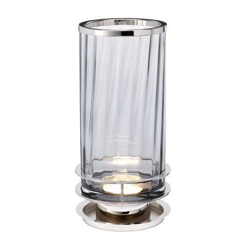Arno Table Lamp Polished Nickel Smoked Glassware Quintessentiale ELS/QN-ARNO-SMOKE-PN