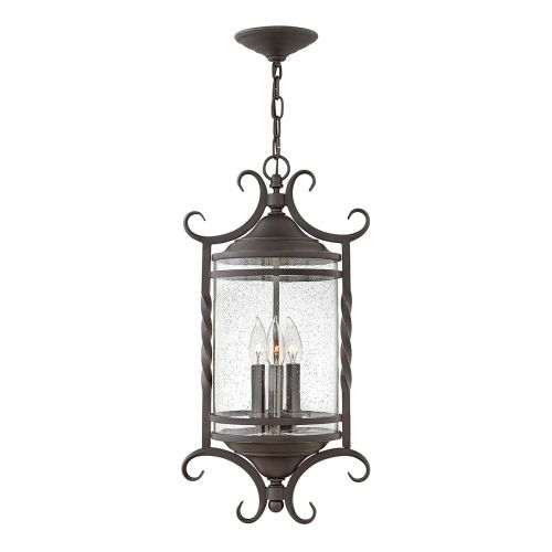 Casa 3 Light Chain Lantern Olde Black IP44 Quintessentiale QN-CASA8