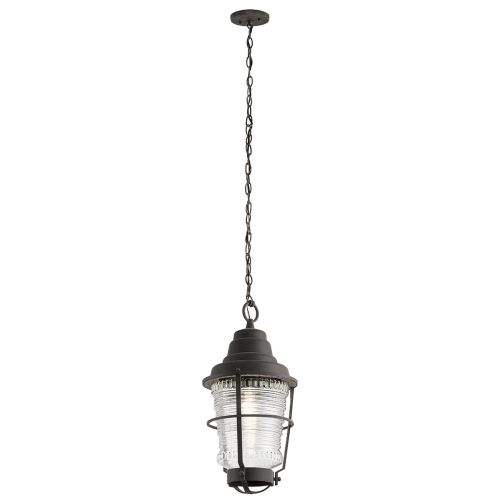 Chance Harbor 1 Light Chain Lantern Weathered Zinc IP44 Quintessentiale QN-CHANCE-HARBOR8