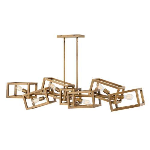 Ensemble 6 Light Bar Pendant Brushed Bronze Quintessentiale QN-ENSEMBLE6-BB