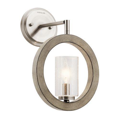Grand Bank Wall Light Mini-Pendant Semi-Flush Fitting Distressed Antique Grey Quintessentiale QN-GRAND-BANK1