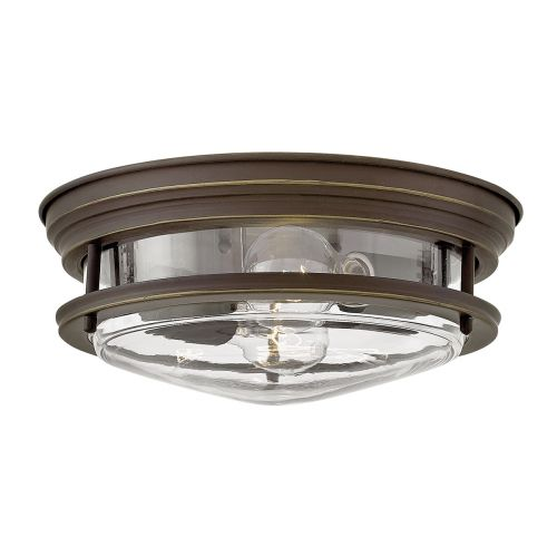 Hadrian 2 Light Flush Ceiling Fitting Oil Rubbed Bronze with clear glass IP44 Quintessentiale QN-HADRIAN-FS-OZ-CLEAR