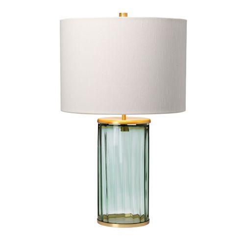Reno Table Lamp Aged Brass Green Glassware Quintessentiale QN-RENO-GREEN-AB