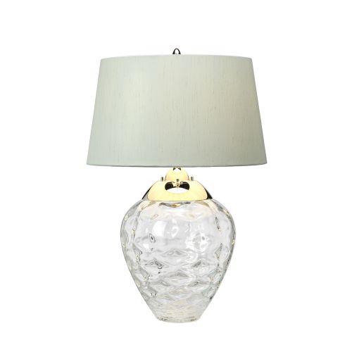 Samara Table Lamp Polished Nickel Clear Glassware Quintessentiale QN-SAMARA-TL-CLR