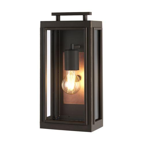 Sutcliffe 1 Light Wall Lantern Oil Rubbed Bronze Copper IP44 Quintessentiale QN-SUTCLIFFE-S-OZ