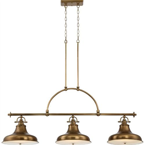 Quoizel Emery 3 Light Weathered Brass Bar Pendant QZ/EMERY3P WS