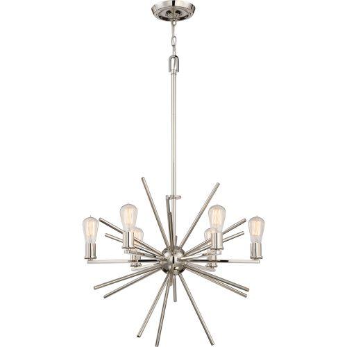 Quoizel QZ/CARNEGIE6 IS Carnegie 6Lt Imperial Silver Ceiling Pendant