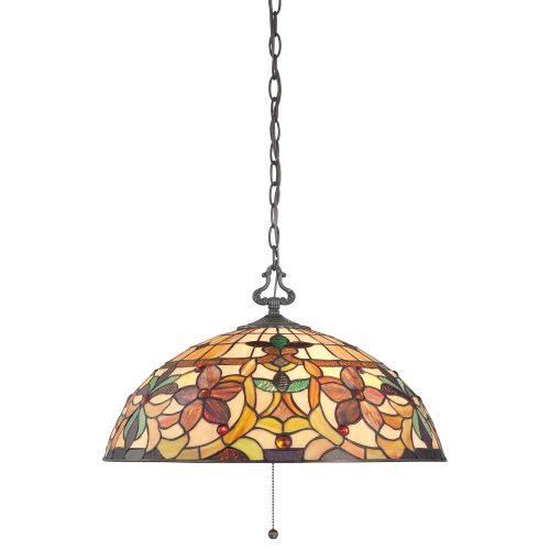 Quoizel QZ/KAMI/P Tiffany Kami 3Lt Vintage Bronze Ceiling Pendant