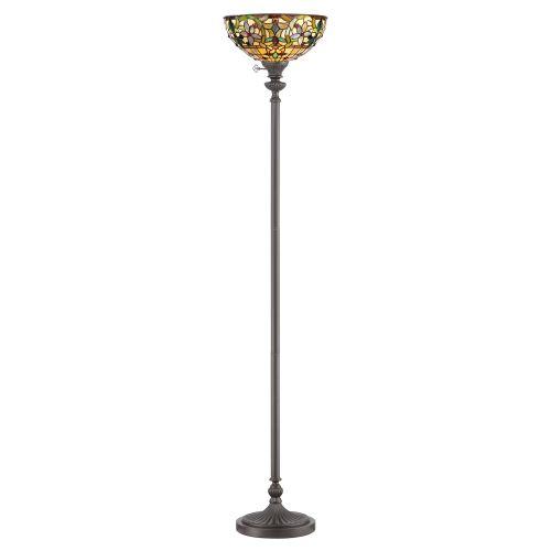 Quoizel QZ/KAMI/UL Tiffany Kami 1Lt Vintage Bronze Floor Lamp