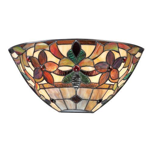 Quoizel QZ/KAMI/WU Tiffany Kami 2Lt Vintage Bronze Wall Light