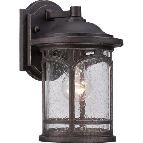 Quoizel QZ/MARBLEHEAD2/S Marblehead 1Lt Palladian Bronze Outdoor Wall Lantern
