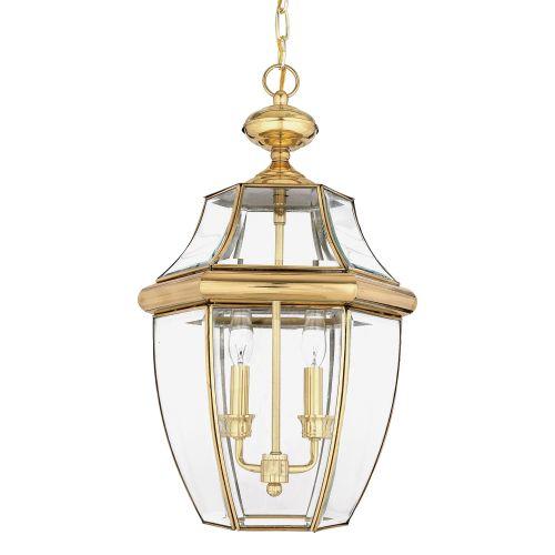 Quoizel Newbury Large Outdoor Lantern Polished Brass ELS/QZ/NEWBURY8/L