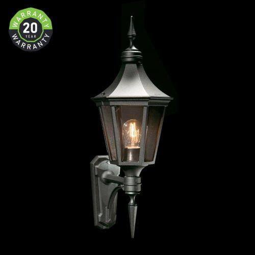 Noral Regent A Outdoor Wall Light Lantern Black NOR/715310 20 Year Warranty