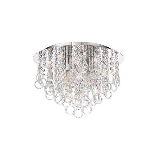 Flush Ceiling 4 Light Polished Chrome/Crystal Revi LEK3759