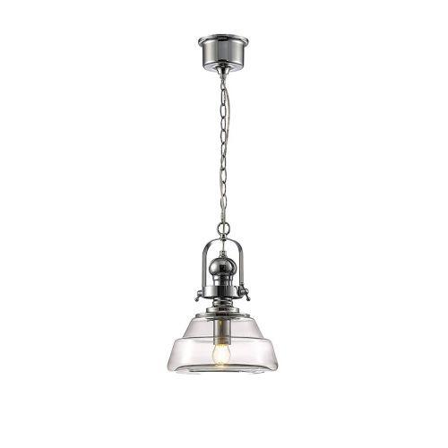 Diyas Reyna Ceiling Pendant Small 1 Light E27 Polished Chrome/ Clear Glass IL31590