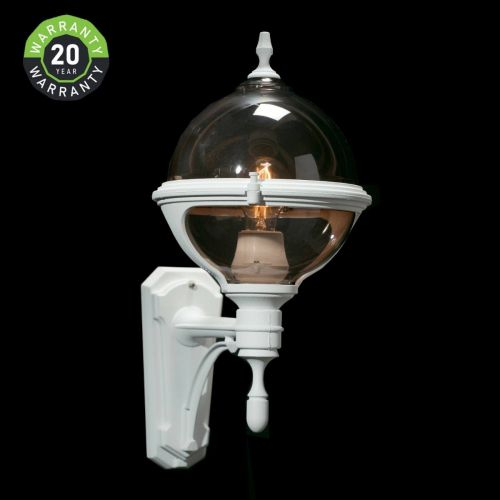 Noral Roulette II Outdoor Wall Light Lantern White NOR/7753101 20 Year Warranty