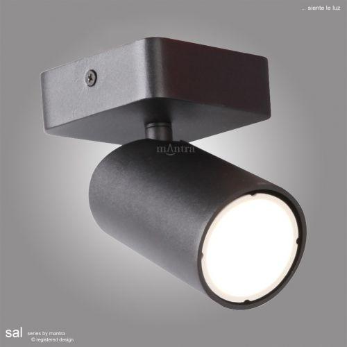 Mantra Sal1Light Spotlight GU10 Matt BlackM6713