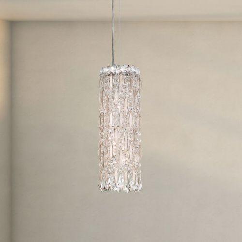 Schonbek Sarella 3 Light Pendant Fitting Antique Silver Heritage Crystal RS8341E-48H