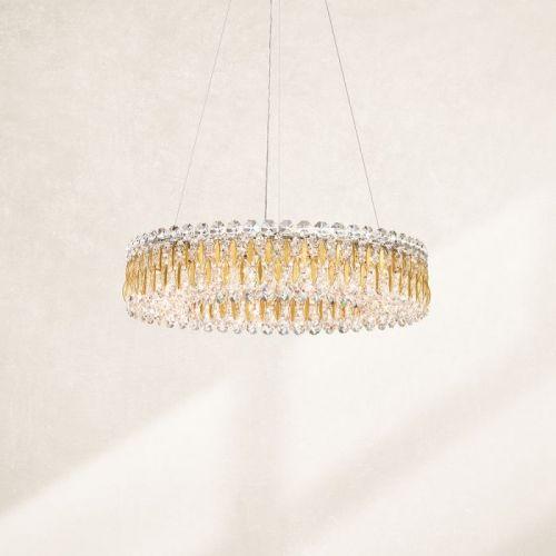 Schonbek RS8343E-22S Sarella 12Lt Swarovski Crystal Ceiling Pendant