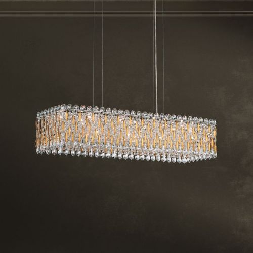 Schonbek Sarella 13 Light Pendant Fitting Heirloom Gold Heritage Crystal RS8344E-22H
