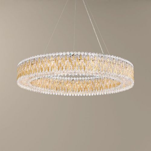 Schonbek Sarella Pendant Fitting Heirloom Gold Heritage Crystal RS8350E-22H