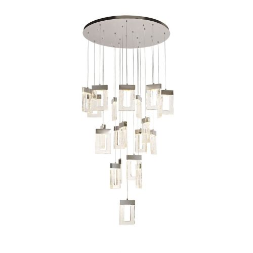 Large Ceiling Pendant LED Polished Chrome Scutarius LEK3687