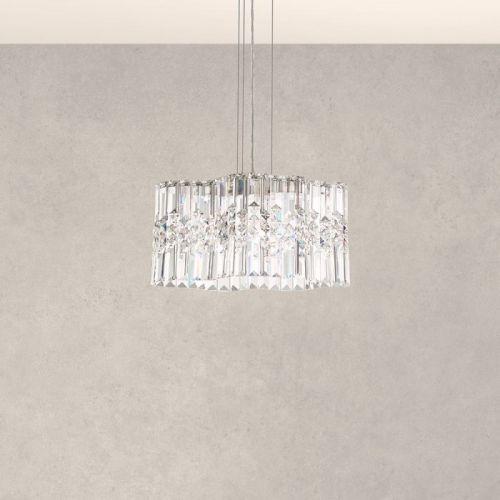 Schonbek Selene Heritage Crystal LED Pendant Stainless Steel SPU120E-SS1H