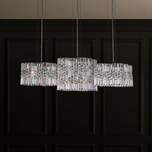 Schonbek Selene LED Heritage Crystal 6 Light Pendant Stainless Steel SPU140E-SS1H