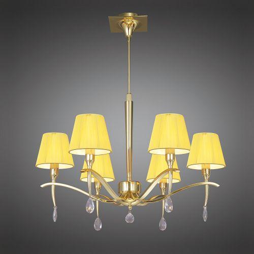 Mantra Siena 6 light Polished Brass Ceiling Pendant M0342PB