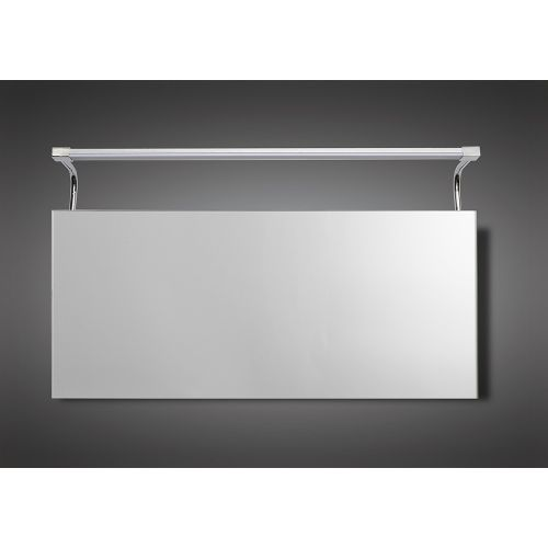 Mantra M5088 Sisley Wall Lamp 10W LED Big Double IP44 4000K 850lm Silver Frosted Acrylic Polished Chrome