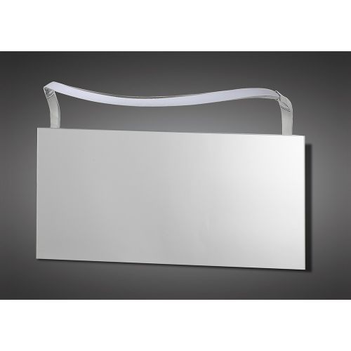 Mantra M5089 Sisley Wall Lamp 12W LED Big Wave IP44 4000K 950lm Silver Frosted Acrylic Polished Chrome