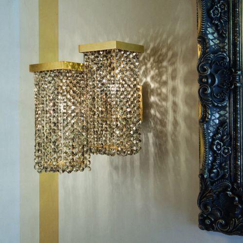 Masiero Skyline Crystal 2 Light Wall Light SKYLINE-A2