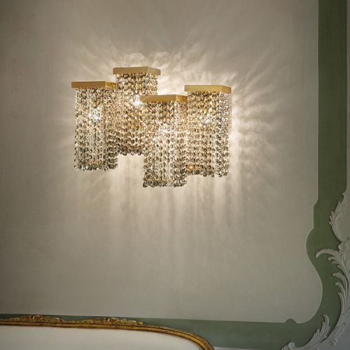Masiero Skyline Crystal 4 Light Wall Light SKYLINE-A4