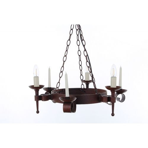 Impex SMRR00003C/A Refectory 3Lt Aged Iron Ceiling Chandelier