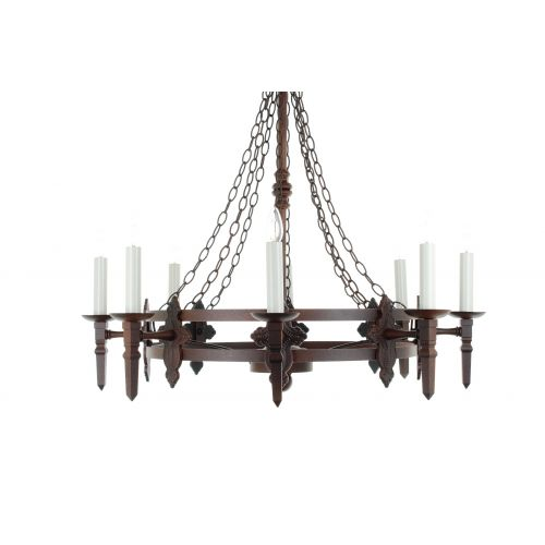 Impex SMRR00138/A Baronial 8Lt Aged Iron Chandelier