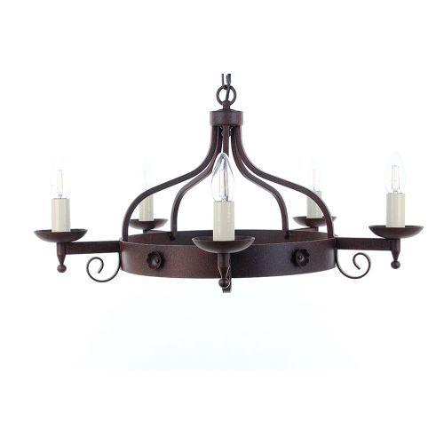 Impex SMRR01995/A Forge 5Lt Aged Iron Ceiling Chandelier