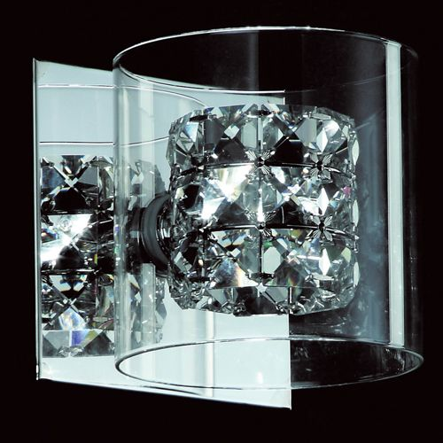 Impex CFH211171/01/WB/CH Sonja 1Lt Polished Chrome Crystal Wall Light