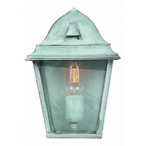 Elstead Solid Brass Outdoor Wall Lantern ST James Verdi