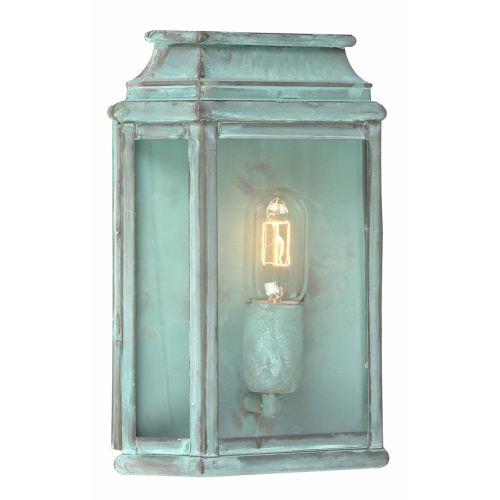 Elstead ST MARTINS-V 1Lt Solid Brass Verdigris Wall Lantern