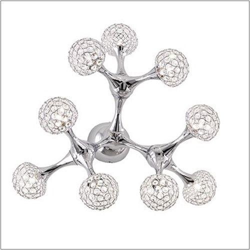 Ideal Lux Nodi Crystal Wall Light PL9 093505 Polished Chrome
