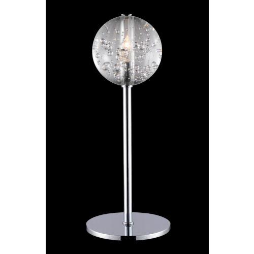 Avivo Bubbles TL1302-1A CH/CL Chrome Table Lamp Clear Glass